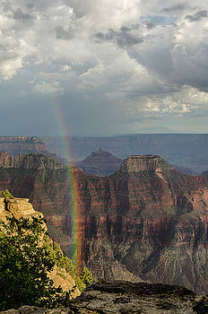 Grand Canyon rainbow by Gaelyn Olmsted