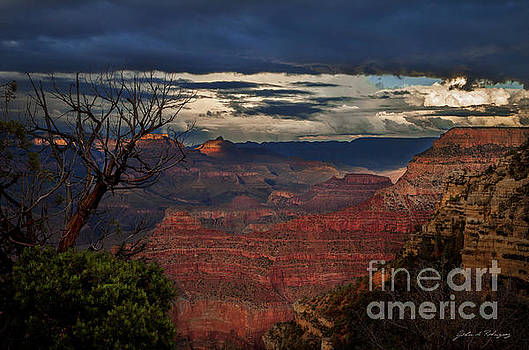 Grand Canyon Storm Clouds by John A Rodriguez