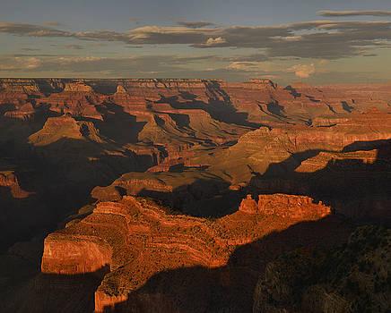 Grand Canyon Sunset Panorama by Stephen  Vecchiotti