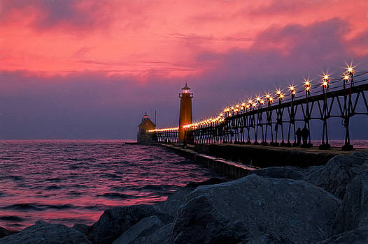 Susan Rissi Tregoning - Grand Haven Sunset
