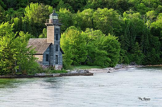 Grand Island Light House by Peg Runyan