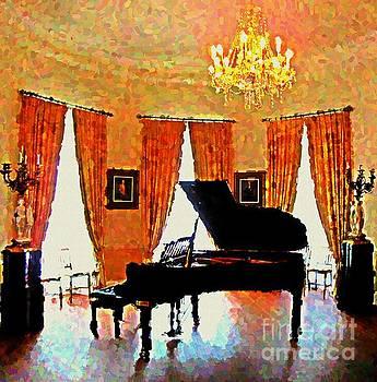John Malone - Grand Piano Impressionist Painting