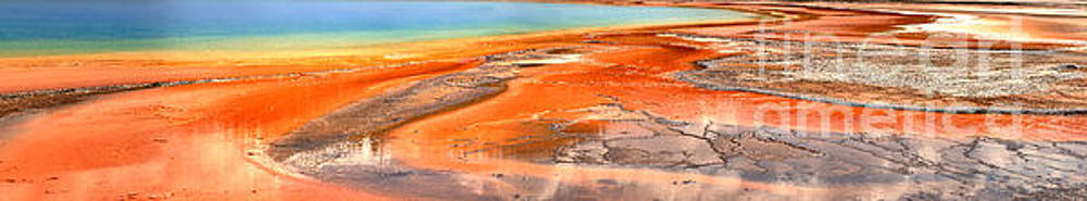 Adam Jewell - Grand Prismatic Bacterial Mat Abstract