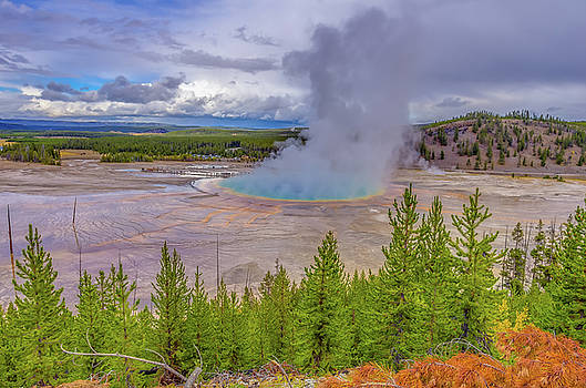 Grand Prismatic Spring Overlook Yellowstone by Scott McGuire