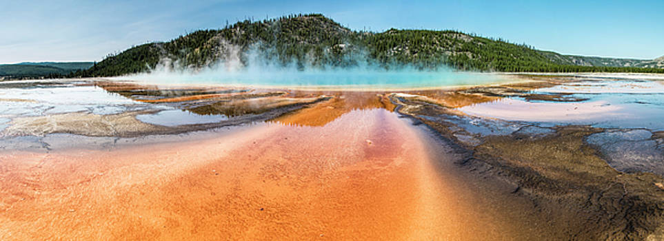 Grand Prismatic Spring Yellowstone  by John McGraw