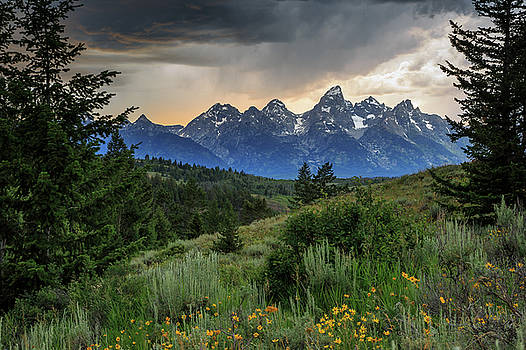 Grand Stormy Sunset by David Chandler