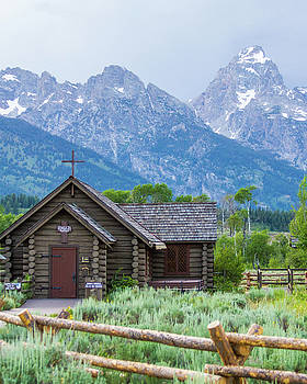Grand Teton Church by Dawn Romine