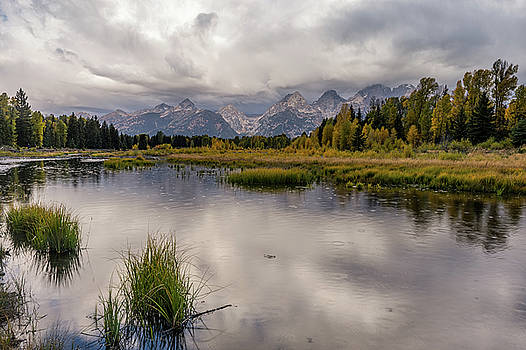 Tibor Vari - Grand Teton Mountain Range in Rain