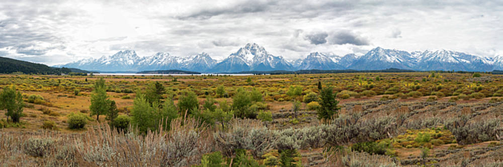 Grand Teton Mountains Panorama by Gej Jones