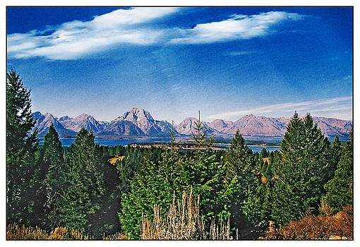 Grand Tetons In Postcard by Jens Larsen