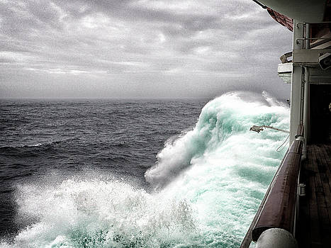 Bill Swartwout Fine Art Photography - Grandeur of the Seas in big waves from Hurricane Maria