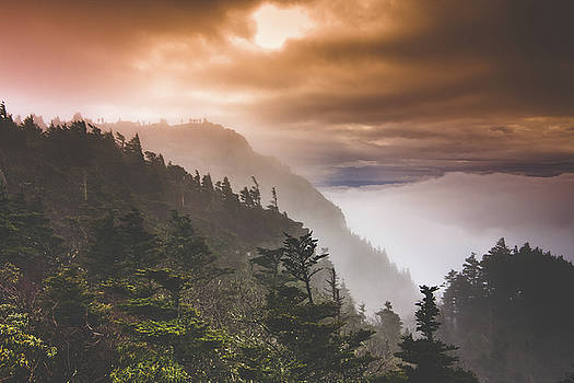 Grandfather Mountain Blue Ridge Mountains of North Carolina by Gray Artus
