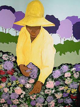 GrandMa Picking Wildflowers by TH Gomillion