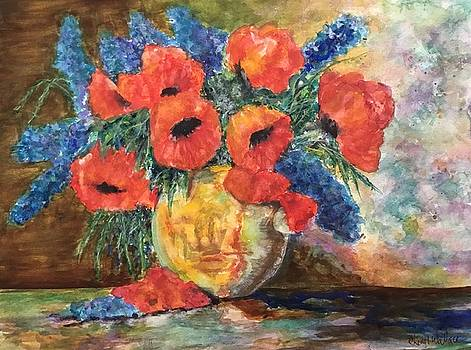Grandmas Poppies by Cheryl Wallace