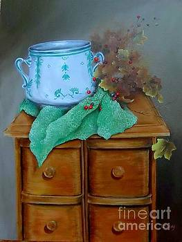 Grandma's Sewing Chest by Patricia Lang