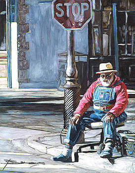Grandpa Elliot on the Corner of Royal by John Boles