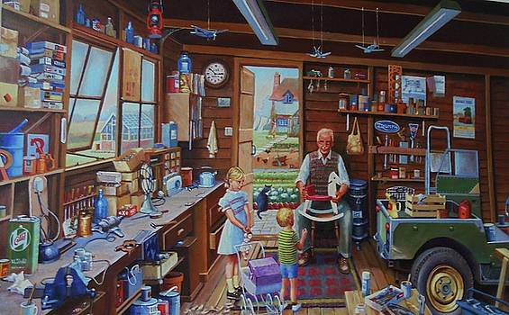Grandpa's workshop. by Mike Jeffries