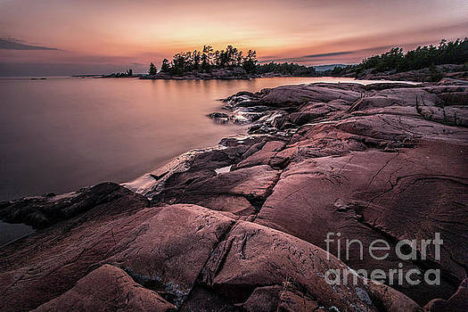 Granite Sunset - Killarney Canada by Matt Trimble