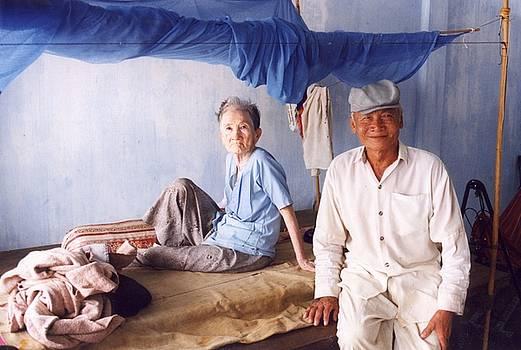 Granparents In Blue by Leonard Rosenfield