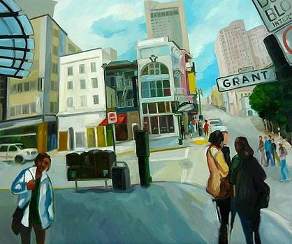 Grant Str. in San Francisco by Carmen Stanescu Kutzelnig