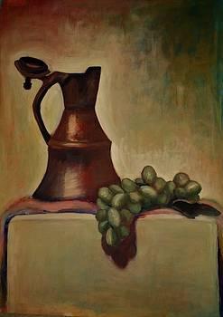 Grapes Acrylic Work by Annamaria Shkurti