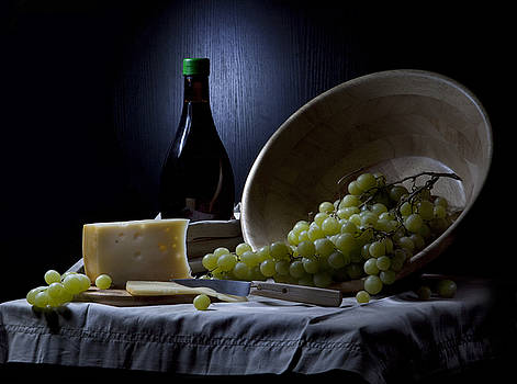 Grapes and cheese by Irina No