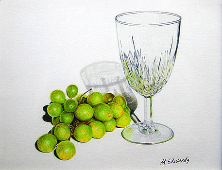 Grapes and Crystal by Marna Edwards Flavell