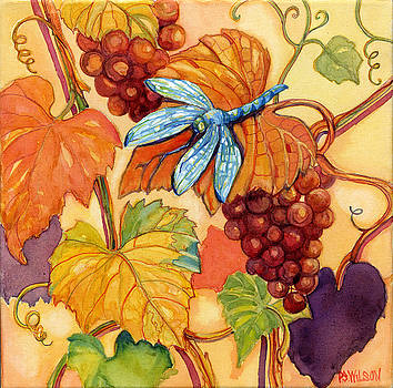 Peggy Wilson - Grapes and Dragonfly
