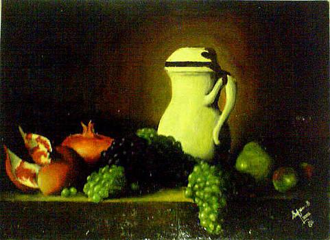Grapes And Pomegranate by Shif Sadeek