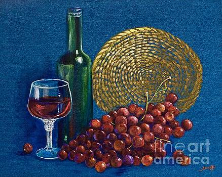 Grapes and Wine by AnnaJo Vahle