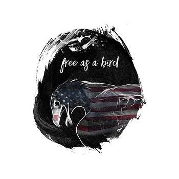 Graphic Art Free As A Bird by Melanie Viola