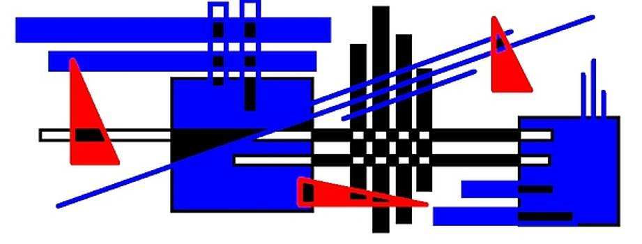 Graphic Design in Red Black and Blue by Art Speakman