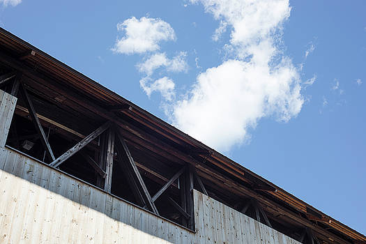 Graphic Detail of the Blair Covered Bridge in New Hampshire by New England Photographic Arts