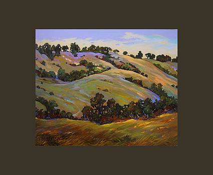Grass and Oaks, Pacific Coast Highway U S A by Catherine Robertson