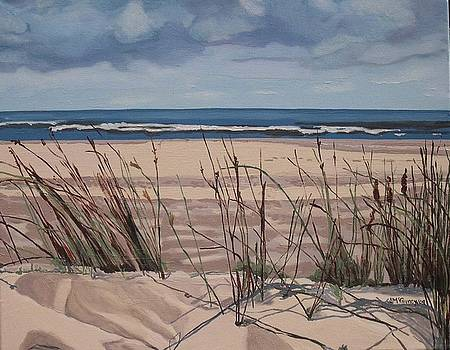 Grasses Sable Beach by Joan McGivney