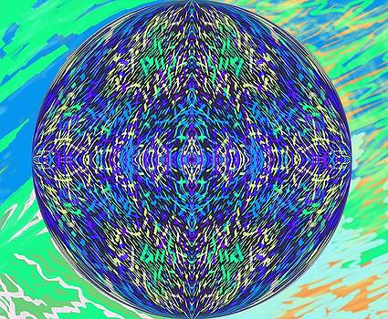 Grassworld 2 Globe by Julia Woodman