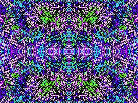 Grassworld 2 Purple Blue by Julia Woodman
