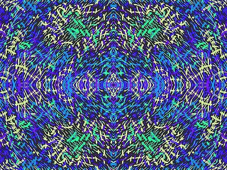 Grassworld 2 Yellow Blue by Julia Woodman