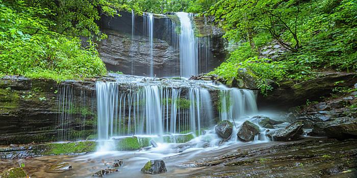 Ranjay Mitra - Grassy Creek Falls in Asheville North Carolina Great Smoky Mountains