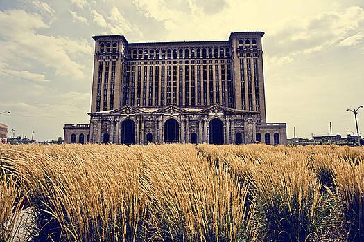 Grassy Michigan Central Station - Detroit by Alanna Pfeffer
