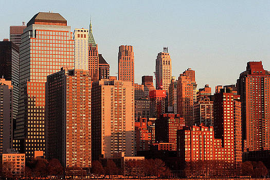 Gratte Ciel Manhattan Usa by Catherine Leblanc