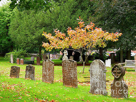 Graveyard of the Church of the Holy Trinity in Stratford upon Avon by Louise Heusinkveld