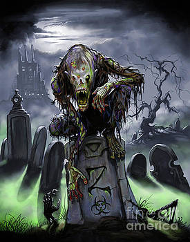 Graveyard Zombie by Stanley Morrison