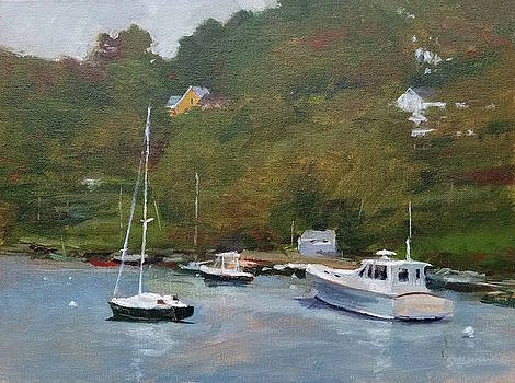 Gray Afternoon at Rockport Harbor by Peter Salwen