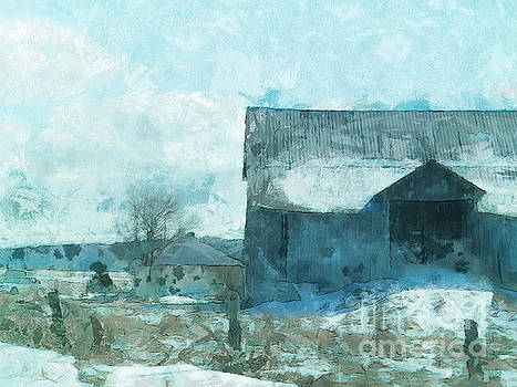Gray Barn by Claire Bull