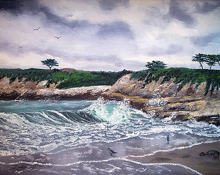 Laura Iverson - Gray Morning at Santa Cruz