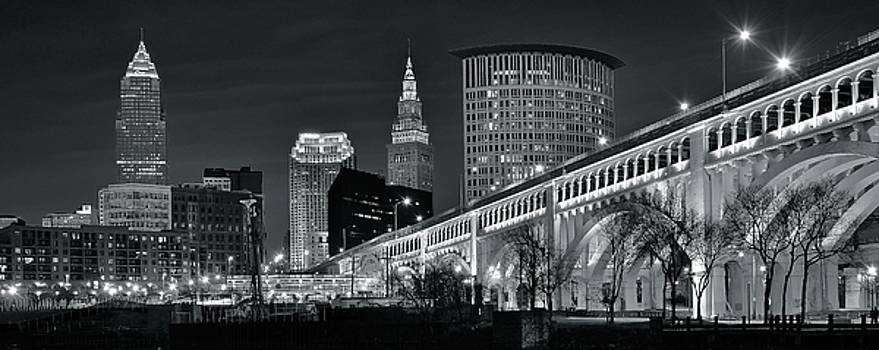 Frozen in Time Fine Art Photography - Gray Pano of CLE