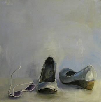 Gray Shoes And White Sunglasses by Mohita Bhatnagar