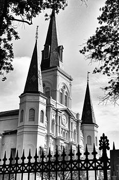Grayscale St. Louis Cathedral by Debi Dalio