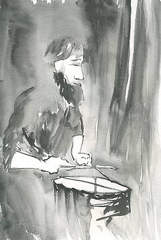 Brian Meyer - Grayscale study of Matthew Smith
